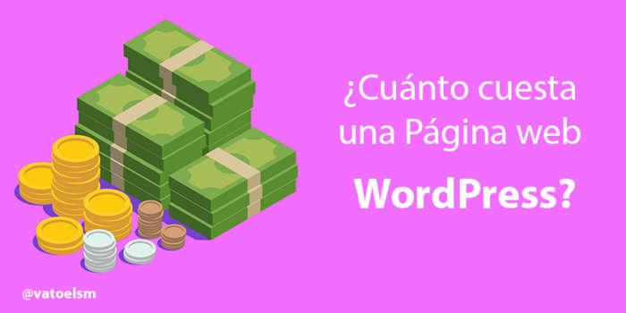 cuanto cuesta una web wordpress