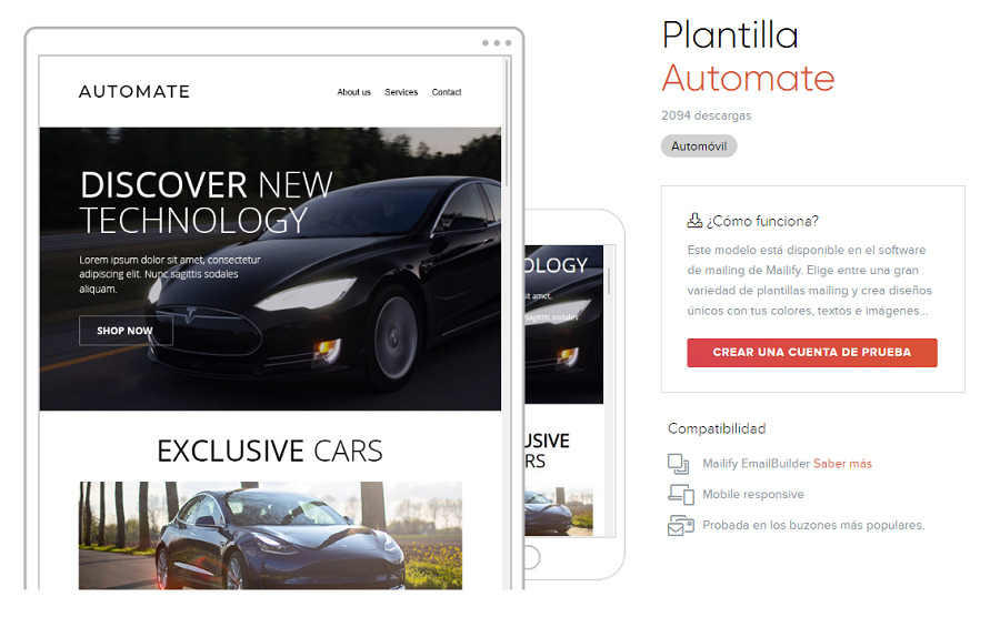 plantilla newsletter coches